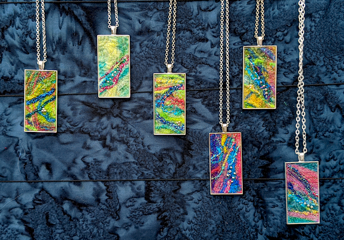 Fibre Art Pendants