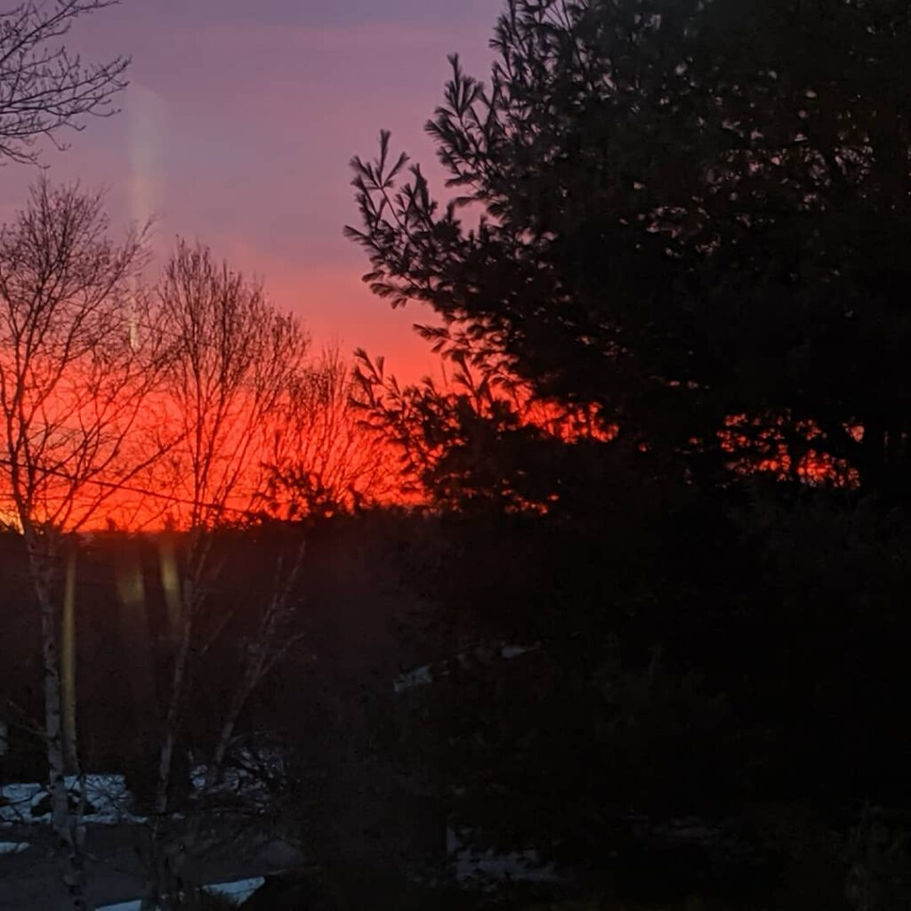 Saturday sunrise from my kitchen window. Nature at its finest! We do have a heavy rain warning for tonight. At least it's not snow. Enjoy your weekend and stay safe. #jctextileart
