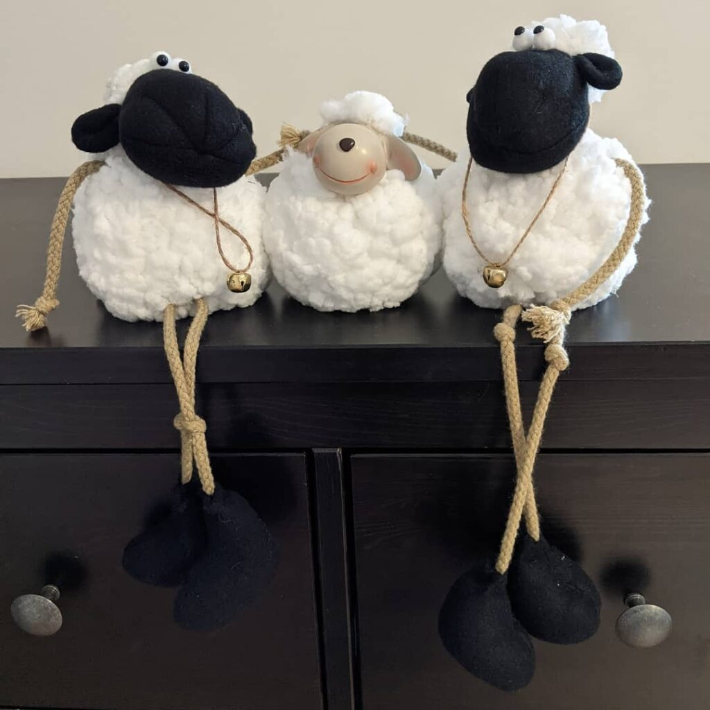 Happy Easter everyone! Have a great day wherever you are. #happyeaster #sheep #fluffysheep #jctextileart #pinegrovenovascotia #easter #eastersheep #